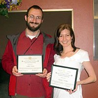 Hunt Fellowship winners - Caglar Akcay and Kristie Fisher