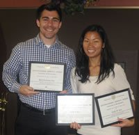 Distinguished Service Award winners - Rick Anthony Cruz and Kelly Koo